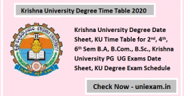 Krishna University Time Table 2020