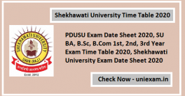 Shekhawati University Time Table 2020