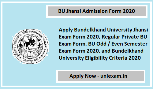 BU Jhansi Admission Form 2020