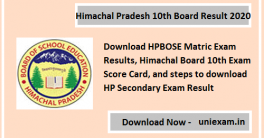 HP Board 10th Result 2020