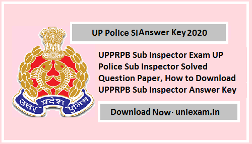 UP Police SI Answer Key 2020