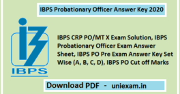 IBPS PO Answer Key 2020