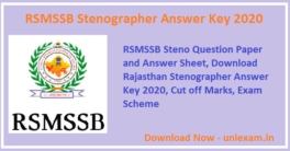 RSMSSB-Stenographer-Answer-Key-2020
