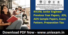 RVUNL Junior Engineer Previous Year Papers 2021