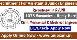 RVUNL Junior Engineer Recruitment 2021